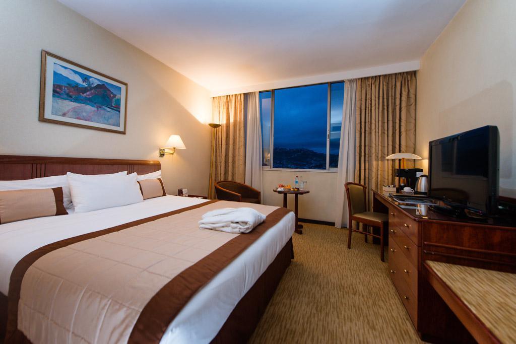 Agencement d'une chambre premium à l'hotel Carlton Madagascar
