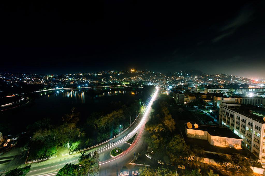 Vue unique sur la ville d'Antananarivo depuis les hauteurs de Carlton Madagascar
