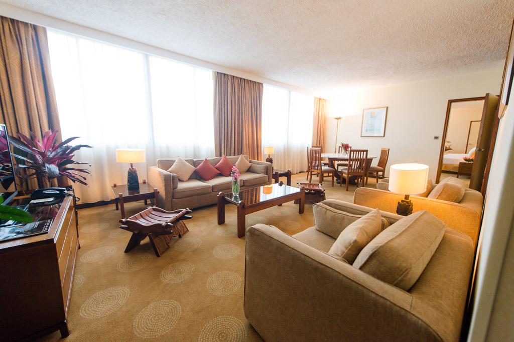 Salon de la suite présidentielle de l'Hotel Carlton Madagascar