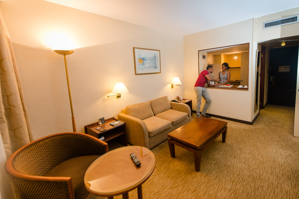 Kithchennette Plateau repas / room service de l'Hotel Carlton Madagascar
